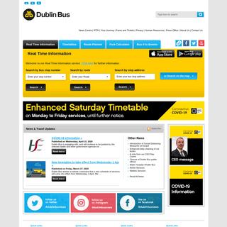 ArchiveBay.com - dublinbus.ie - Home - Dublin Bus