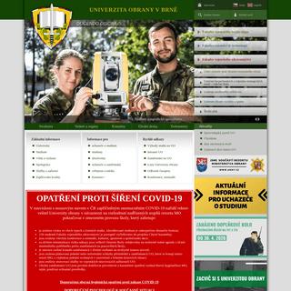 Úvodní stránka Univerzity obrany - Univerzita obrany