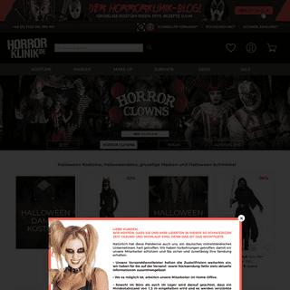 Originelle Halloween Kostüme, Halloween Make Up sowie Halloween Deko bei HorrorKlinik