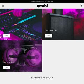 Gemini Sound - Consumer Electronics - DJ - Pro Audio