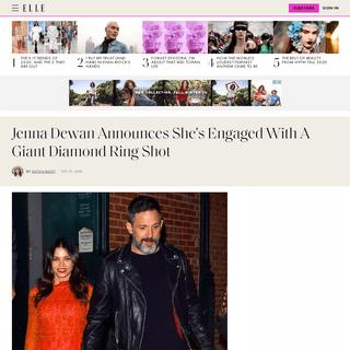 ArchiveBay.com - www.elle.com/culture/celebrities/a30993810/jenna-dewan-steve-kazee-engaged/ - Jenna Dewan and Steve Kazee Are Engaged - See Jenna's Engagement Ring
