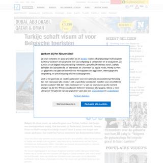 ArchiveBay.com - www.nieuwsblad.be/cnt/dmf20200221_04859231 - Turkije schaft visum af voor Belgische toeristen - Het Nieuwsblad