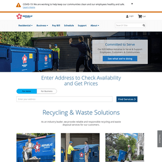 Waste Disposal and Trash Removal Services - Republic Services