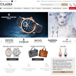 Laikswatches.lv - rokas pulksteņi un juvelierizstrādājumi