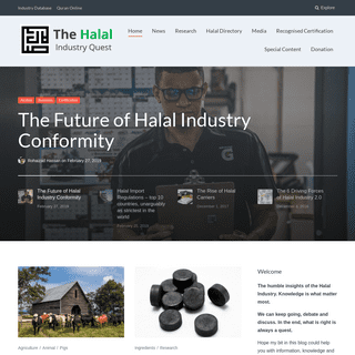 The Halal Industry Quest – where knowledge embraced