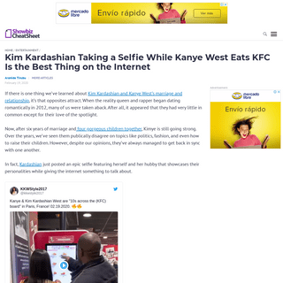 Kim Kardashian Taking a Selfie While Kanye West Eats KFC Is the Best Thing on the Internet
