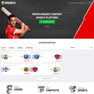 Play Fantasy Cricket & Fantasy Leagues Online & Win Cash @ DREAM11