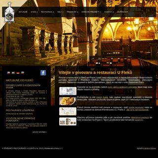 Restaurace Praha 1 – PIVOVAR A RESTAURACE U FLEKŮ s.r.o.