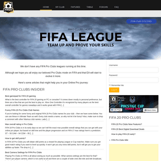 PRO11 - FIFA 19 Pro Clubs PC League