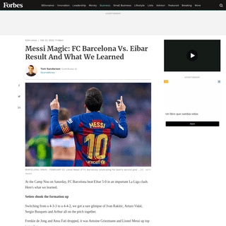 Messi Magic- FC Barcelona Vs. Eibar Result And What We Learned