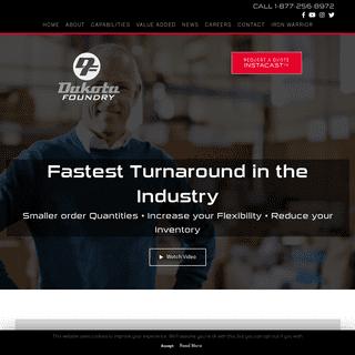Dakota Foundry - Gray & Ductile Iron Castings - Fastest Turnaround in North America