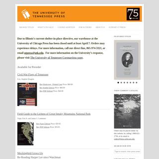 University of Tennessee Press