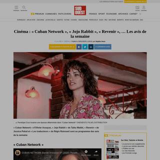 Cinéma- «Cuban Network», «Jojo Rabbit», «Revenir», … Les avis de la semaine - Sud Ouest.fr