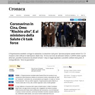 Coronavirus in Cina, Oms- -Rischio alto-. E al ministero della Salute c'è task force - la Repubblica