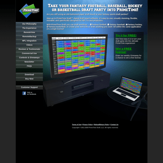 Fantasy Football Draft Board Software, Fantasy Baseball Draft Board Software, Fantasy Hockey Draft Board Software, and Fantasy B