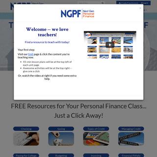 Next Gen Personal Finance- Home