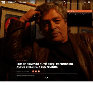 ArchiveBay.com - www.t13.cl/noticia/tendencias/muere-ernesto-gutierrez-reconocido-actor-chileno-70-anos - Muere Ernesto Gutiérrez, reconocido actor chileno, a los 70 años - Tele 13