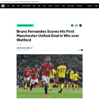 Bruno Fernandes Scores His First Manchester United Goal in Win over Watford - Bleacher Report - Latest News, Videos and Highligh