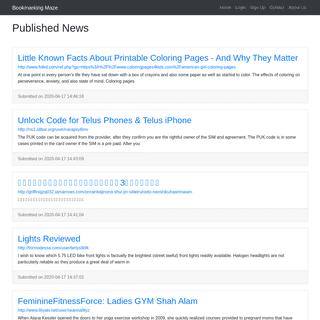 Published News - Bookmarking Maze