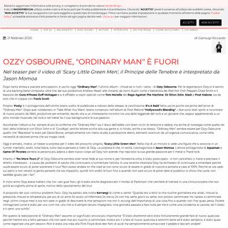 Ozzy Osbourne, -Ordinary Man- è fuori - Radiofreccia
