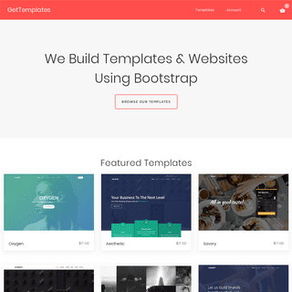 GetTemplates – Premium Bootstrap Templates & Websites