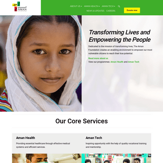Aman Foundation – Transforming Lives