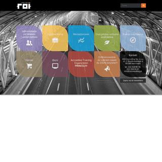 ROI Consulting - Szkolenia biznesowe - Szkolenia informatyczne - E-learning - Doradztwo
