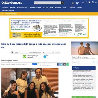 Filho de Gugu registra B.O. contra a mãe após ser enganado por ela - JORNAL O São Gonçalo On-line