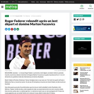 Roger Federer rebondit après un lent départ et domine Marton Fucsovics