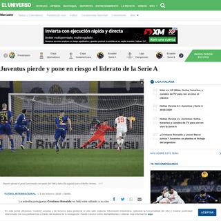 Juventus pierde y pone en riesgo el liderato de la Serie A - Fútbol Internacional - Deportes - El Universo