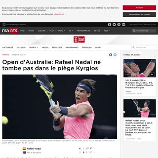 Open d'Australie- Rafael Nadal ne tombe pas dans le piège Kyrgios - rts.ch - Tennis