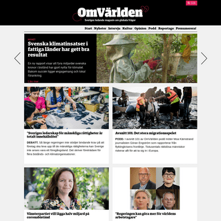 OmVärlden – Sveriges ledande nätmagasin för globala frågor. - OmVärlden
