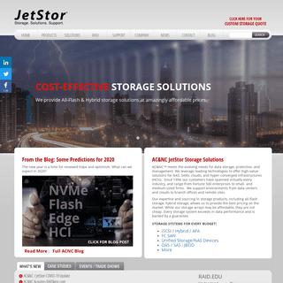 ArchiveBay.com - acnc.com - Jetstor - Affordable All-Flash Storage and Hybrid Flash Storage Arrays