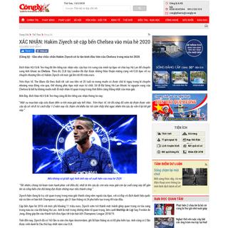 XÁC NHẬN- Hakim Ziyech sẽ cập bến Chelsea vào mùa hè 2020