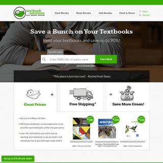 Rent Textbooks - Cheap Textbook Rental Source - TextbookSolutions.com