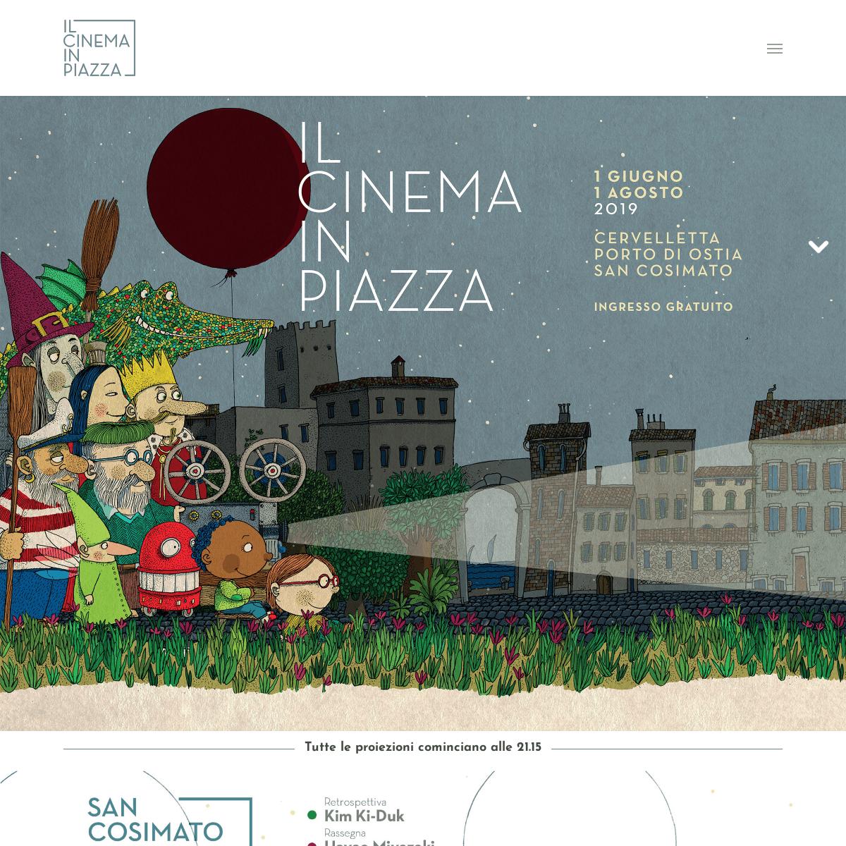 Il Cinema in Piazza - Roma- arene di San Cosimato, Cervelletta e Ostia