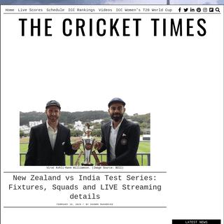 ArchiveBay.com - crickettimes.com/2020/02/new-zealand-vs-india-test-series-fixtures-squads-and-live-streaming-details/ - New Zealand vs India Test Series- Fixtures, Squads and LIVE Streaming details – CricketTimes.com