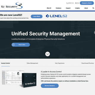 S2 Security - Leader in Security and Access Control