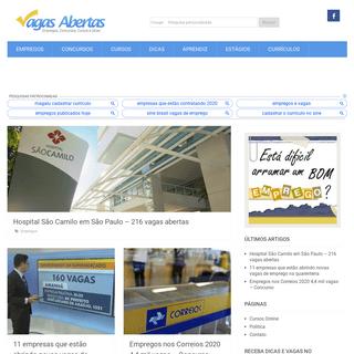 ArchiveBay.com - vagasabertas.org - Vagas Abertas 2020 - Empregos hoje, Sine, Estágio, Aprendiz - Vagas de Emprego, Cursos, Concursos e Vestibular