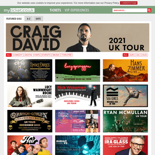 MyTicket.co.uk - Tickets for live events, gigs, festivals, bands, music and comedy
