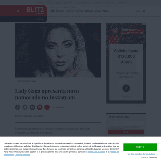BLITZ – Lady Gaga apresenta novo namorado no Instagram