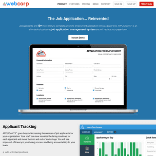 Cloud-Based Job Applications and Management - WebCorp