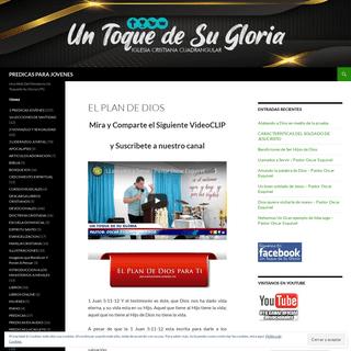 PREDICAS PARA JOVENES - Una Web Del Ministerio Un Toquede Su Gloria UTG