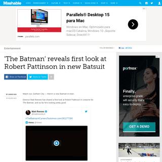 ArchiveBay.com - mashable.com/article/the-batman-robert-pattinson-costume/ - See Robert Pattinson's Batman in costume- First look