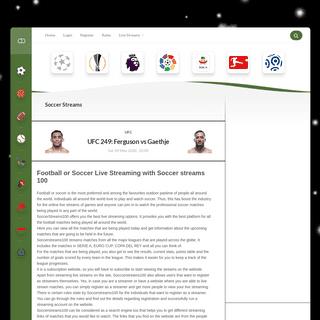 Soccer Streams - the highest quality of free reddit soccer streams