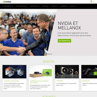 Leader de l'informatique visuelle - GPU et processeurs - NVIDIA
