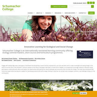 Schumacher College - Transformative Learning through Sustainable Living