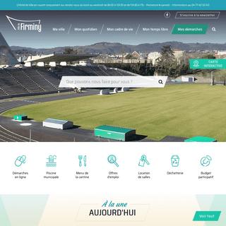 Accueil - Ville de Firminy – Site officiel