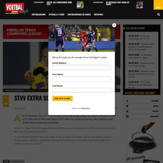 STVV extra scherp tegen KV Mechelen- - Voetbalbelgie.be