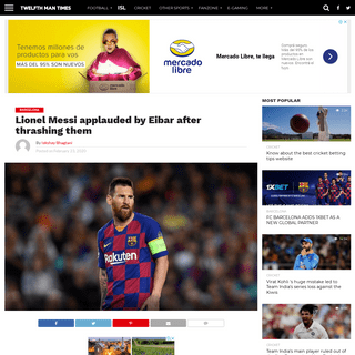 ArchiveBay.com - the12thman.in/lionel-messi-applauded-by-eibar-after-thrashing-them/ - Lionel Messi applauded by Eibar after thrashing them - The12thMan